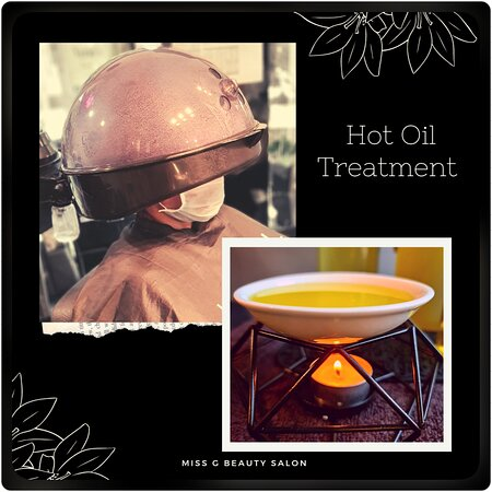 Hot Oil Treatment at #MissG  #dryhair #hotoiltreatment #longhairlove #oilmassage #dandruff #haircare #oil  #healthyhair #hairgoals #coconutoil #hairvideos #hairgrowth  #hairloss #hairgrowthtips #hairfall #hairgrowthoil #organic #hairtransformation #hairoils #naturalhaircare #curlyhair #hairtreatment #hairmassage #hairoilsforgrowth #hotoil #haircareroutine #natural #missgbeautysalon #naturalhair