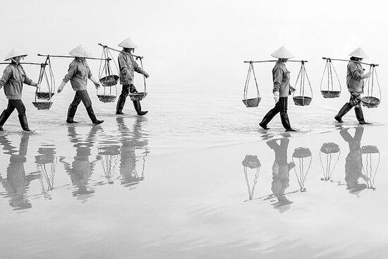 Tour fotografico del Vietnam con dune di sabbia e campo di sale