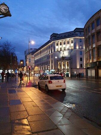 Bustling street.