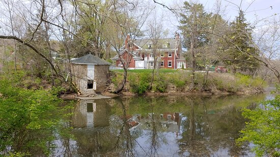 Ice house from the lake while on the paddleboat.