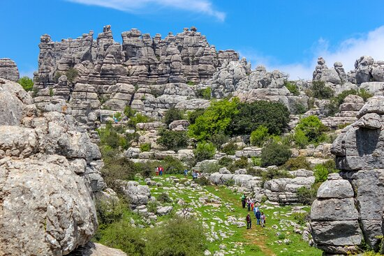 """One of our excursions to the Torcal de Antequera, in the province of Malaga. We like to call it """"the ocean of rocks"""", an impressive landscape of impossible geological formations, suitable for the whole family."""