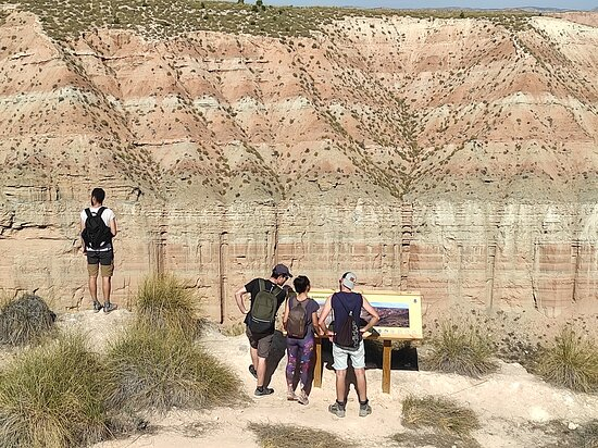 """You thought there was no desert in Granada? This is a picture of our last excursion to Gorafe, a """"Martian"""" landscape only 1 hour drive from Granada. Have you ever heard about the cave-houses? Today, hundreds of people still live in these curious constructions, come with us to see them!"""