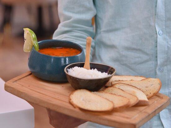 The Tom-Yom soup