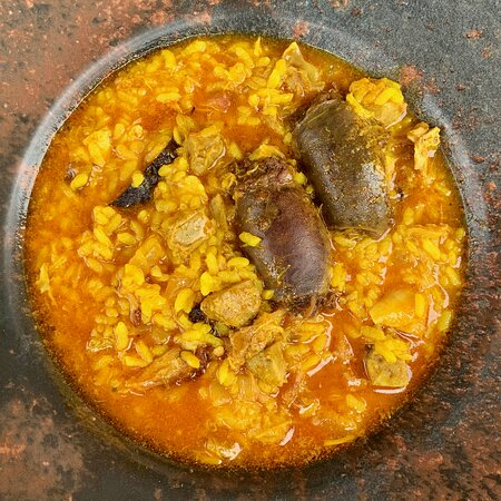 La Pobla de Vallbona, إسبانيا: Arroz meloso en La Vigueta Restaurant