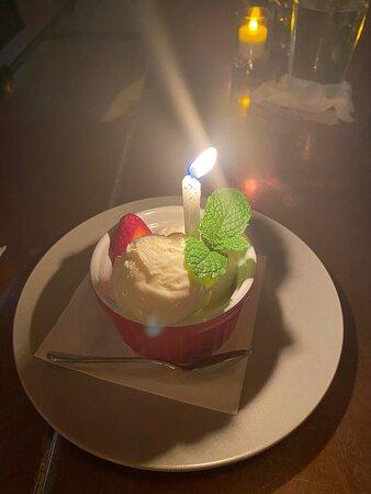 Birthday dessert!