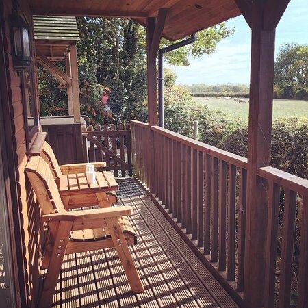 Veranda of Family Lodge Bilsdale