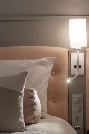 Vogue design guest room with comfy bed
