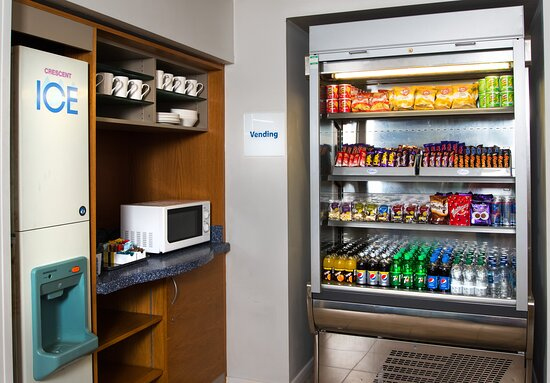 Feeling peckish? Pick up a snack from our vending fridge
