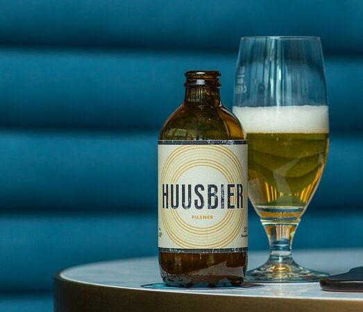 Our Huusbier, specifically brewed for us by a local producer