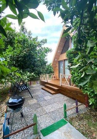 Yaniklar, Türkei: İpek 1 bungalov balkon 💜