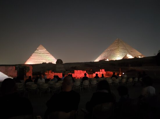 The World Famous Pyramids Sound and Light Show in Giza: The music and light show at the Giza pyraminds.
