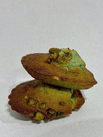 Les madeleines à la pistache