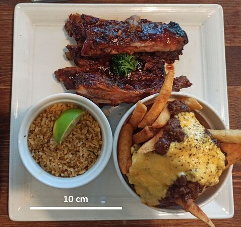 Bourbon ribs, the rest are side pieces
