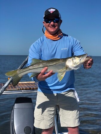 My personal first ever Snook. Amazing fish to catch, let alone sight cast for!