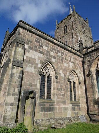 The Parish Church of St Mary the Virgin, Wirksworth:  the curious 'coffin'