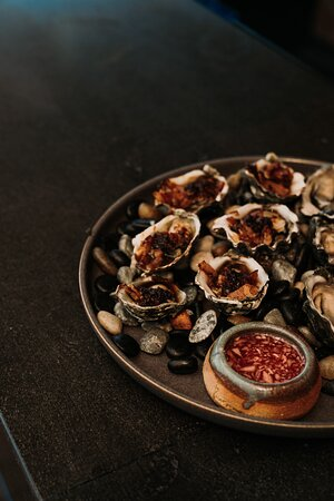 Woodfired Kilpatrick Oysters