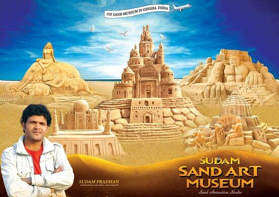 Puri, India: Sudam sand art museum odisha india poster