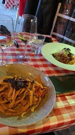 Italian Sausage pasta and spaghetti bolognese
