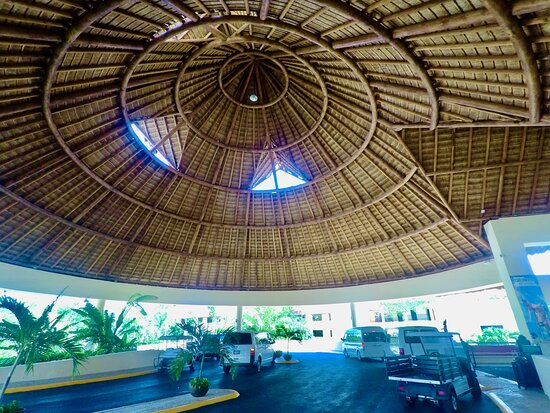 Main area for pick up-drop off at The Occidental Xcaret Resort where We can take You to & from The Cancun Airport