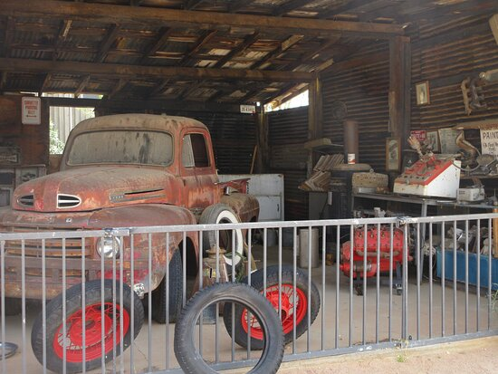 Old truck on display at Hackberry General Store