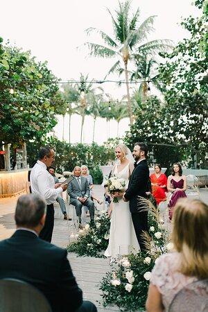 Wedding Ceremony in The Grove