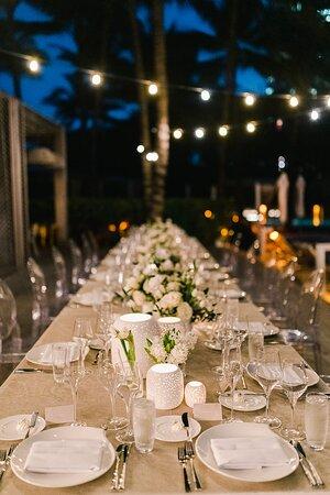 Wedding dinner on the WET Deck