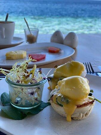 Desayuno espectacular.