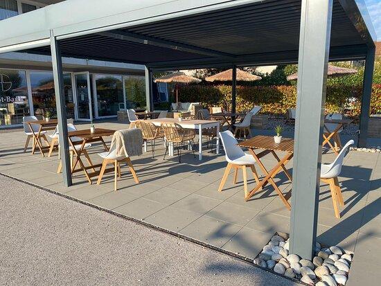 Saint-Prex, Ελβετία: Découvrez notre terrasse! N'oubliez pas de réserver!