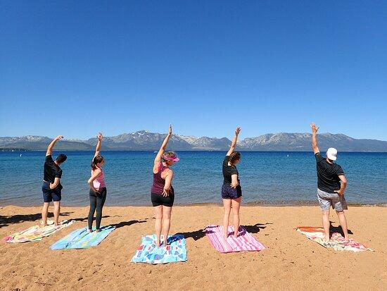 Zephyr Cove, NV: Beach Yoga at Nevada Beach