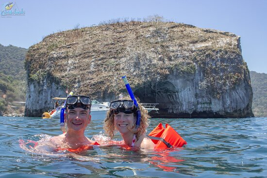 We just jumped in to start snorkeling. The water was great!
