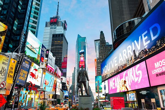 The statue of Chaplain Duffy in Times Square, steps from our door!