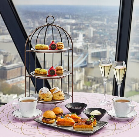 Helix at the Gherkin Afternoon Tea Summer 2021