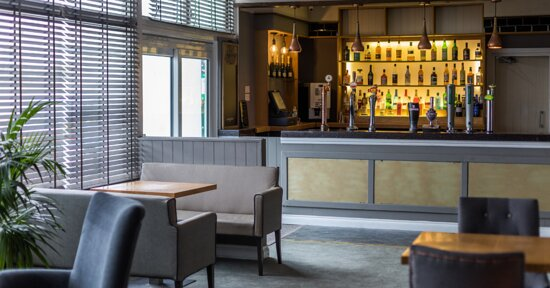 Main bar area, open to both residents and public
