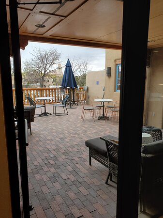 We believe this is the number 1 coffee shop in Sante Fe.  The roaster-owner operator really knows the science of roasting coffee.  Restrooms are available  nearby if you ask.  It's at the back of the shopping arcade and has a nice open patio and also a large sitting room.