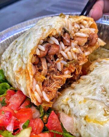Cafe Rio Sweet Pork Burrito, Enchilada Style