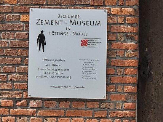 Zement-Museum in der Koettings-Muehle