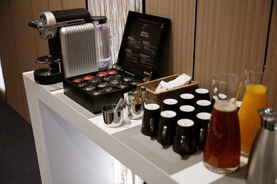 Welcome Coffee with fresh juices and Nespresso Machine