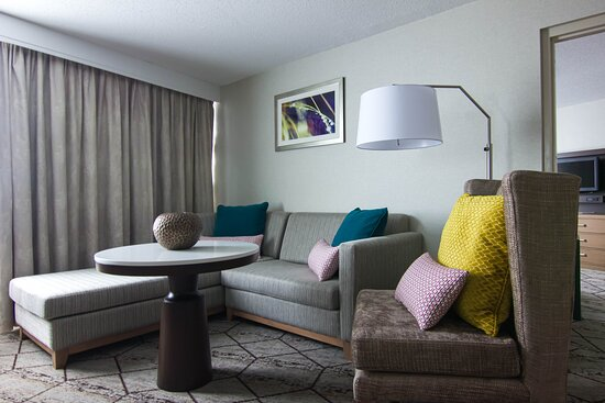 Our suites offer a stunning view of the city, and a place to relax