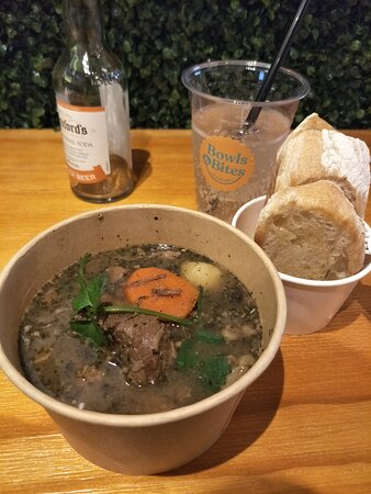 Rustic Beef Bowl with ciabatta
