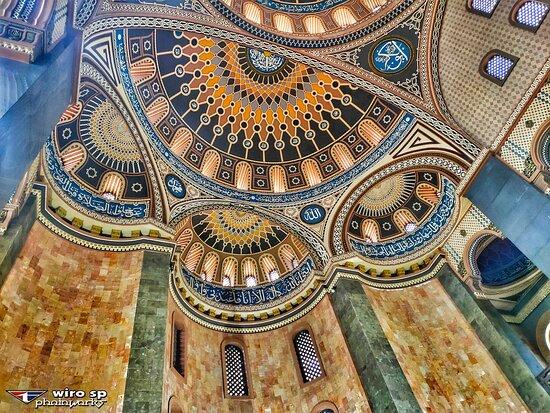 Malang, Indonesia: Masjid Agung Al Hidayah, serasa Hagia Sophia  Jl. Raya Karangan, Donowarih Kec. Karangploso
