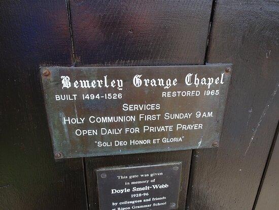 Bewerley Grange Chapel
