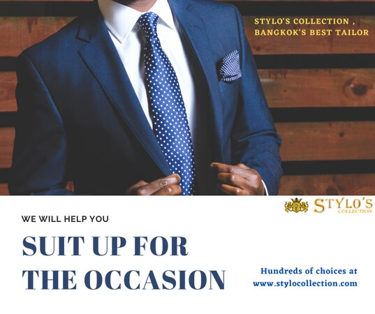 Stylo's Collection   Bangkok's Best Tailor  We offers top-notch quality tailoring since over two decades. 👔 🤵  Visit our store for high quality and fashionable suits, tuxedos and shirts or order online or contact us for business partnership. 😀  WhatsApp/ Ph : +66 (0) 865 373 888, +66 (0) 897836661 Email: styloitbkk@gmail.com Website: www.stylocollection.com #Styloscollection #Premium #premiumquality #Cavani #Luxury #Suit #Tuxedo #Stylo #GQ #Bespoke #Master_Tailor #Bangkok_Best_Tailor #Supplie