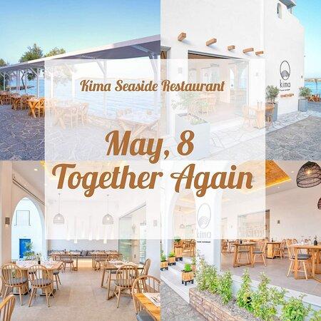 Έφτασε η στιγμή  που θα σας υποδεχτούμε  ξανα! Σας περιμένουμε στους ειδικά  διαμορφωμένους μας χώρους, τηρώντας όλα τα προβλεπόμενα μέτρα. Ανοίγουμε το  Σάββατο  8 Μαΐου, καθημερινά  από της 9 πμ το πρωί  έως τις 11 μ.μ  το βράδυ.🙂  The time has come, we will welcome you to our specially designed place, observing all the necessary measures.  We open on Saturday, May 8, daily from 9 am to 11 pm.🙂