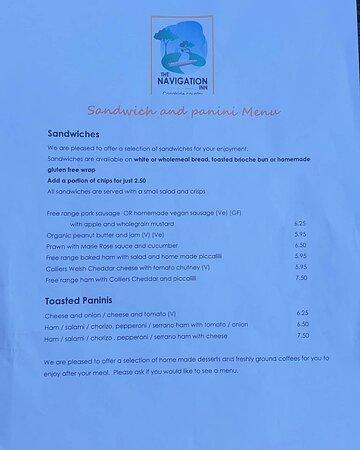 First class gluten free menu