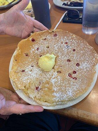 Orange and cranberry pancake
