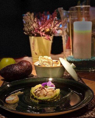 tartare ostriche e guacamole