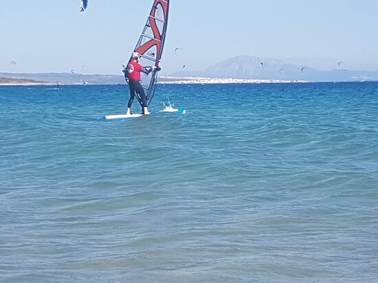 No matter how tall you are, you can do windsurfing! Lessons, courses and rental every day in Tarifa with Wind&Water Experience +34 661628385