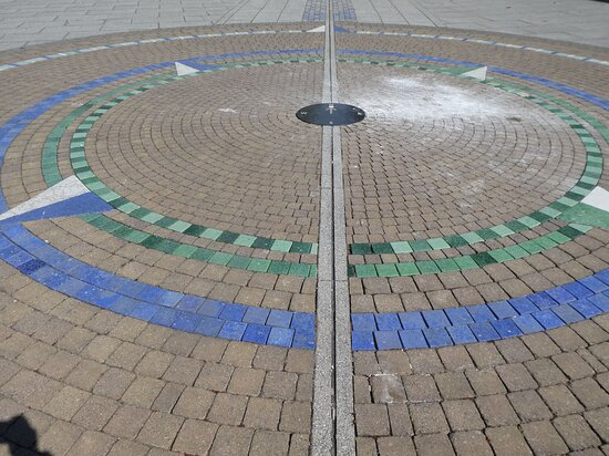 The Prime Meridian at Prime Meridian Walk, East India Dock , London