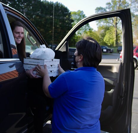 We offer contactless curbside service, to go, and take out.