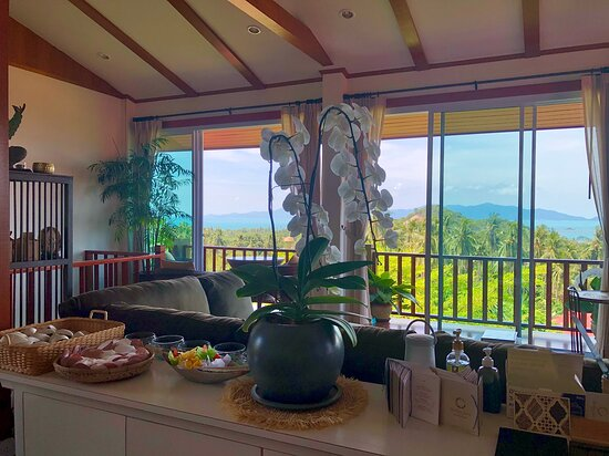 Dining room with this view